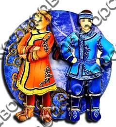Магнитик 2-хслойный Коренные народы севера вид 2 с символикой Вашего города