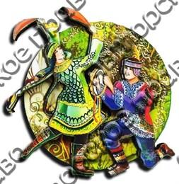 Магнитик 2-хслойный Коренные народы севера вид 4 с символикой Вашего города