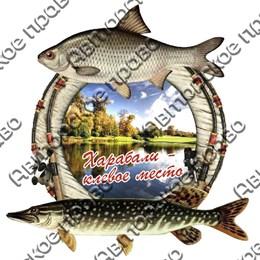 Магнит 2-хслойный Рыбы с видами Вашего города вид 3