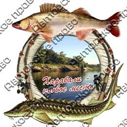Магнит 2-хслойный Рыбы с видами Вашего города вид 4