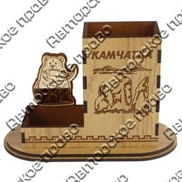 Карандашница малая Медведь с символикой Вашего города