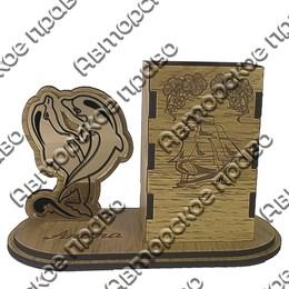 Карандашница малая Дельфины с символикой Вашего города вид 1