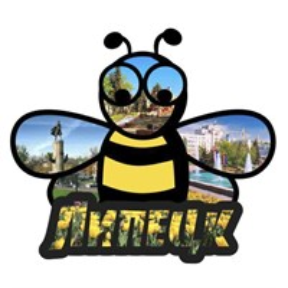 Магнит контурный Пчелка с символикой Вашего города