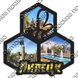 Магнит контурный Коллаж с символикой Вашего города