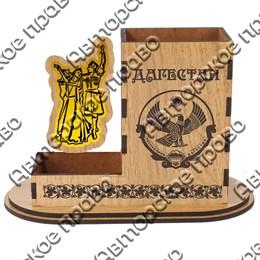 Карандашница большая Кавказская пара с символикой Вашего города