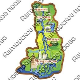 Магнит 1-слойный Карта Астраханской области