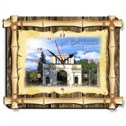 Часы Бамбук с достопримечательностями Ставрополя