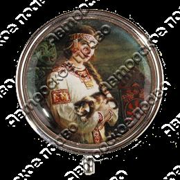 Таблетница круглая Красавица вид 1