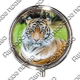 Таблетница круглая Тигр