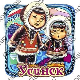 Магнит Этно дети с символикой Усинска
