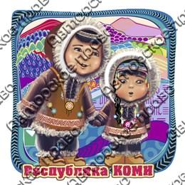Магнит Этно дети с символикой Коми