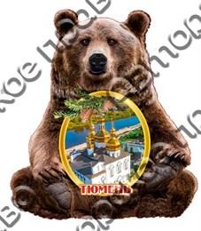 Магнит Медведь с достопримечательностями Тюмени