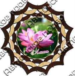 Тарелка-панно 15 см вид 2 с символикой Лагани