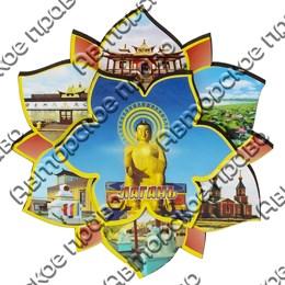 Магнит Лотос с символикой Лагани