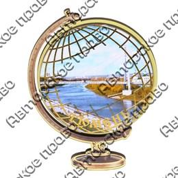 Магнит Глобус с видами Тюмени