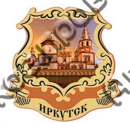 Магнит с гравировкой и картинкой Достопримечательности Иркутска