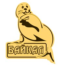 Магнит зеркальный Нерпа с символикой Байкала
