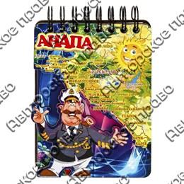 Магнит - блокнот цветной Капитан с картой вашего региона, края или области 50 листов