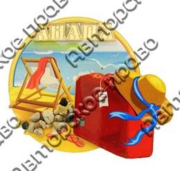 Магнит Чемодан с зеркальным логотипом Вашего города