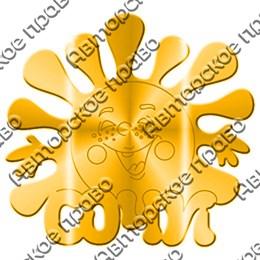 Магнит зеркальный Солнышко с символикой Сочи