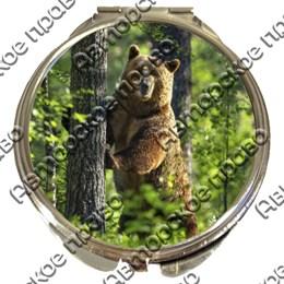 Зеркало серебро Медведи вид 1