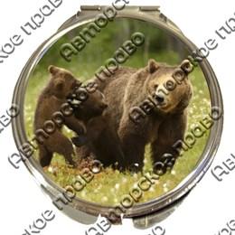 Зеркало серебро Медведи вид 2