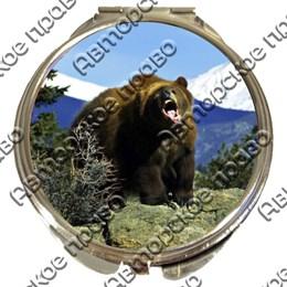 Зеркало серебро Медведи вид 3