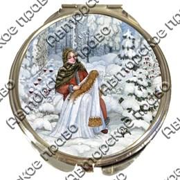 Зеркало серебро Красавицы вид 1