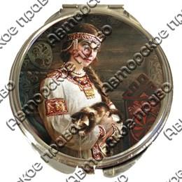 Зеркало серебро Красавицы вид 2
