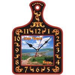 Часы - разделочная доска с достопримечательностями Керчи