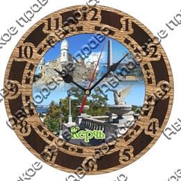 Часы круглые 15 см 2-хслойные вид 1 с видами Керчи