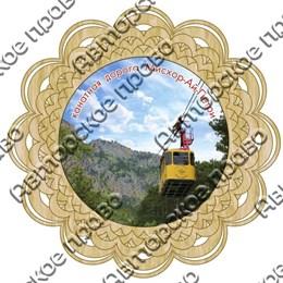Тарелка-панно 15 см вид 3 с символикой Ялты