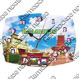 Часы бочка Вид 1 с достопримечательностями Калмыкии