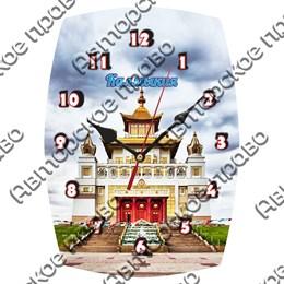 Часы бочка Вид 2 с достопримечательностями Калмыкии