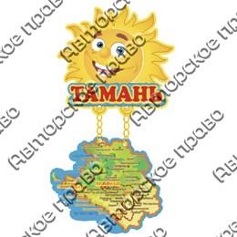Магнит качели Солнышко с картой и символикой Тамани