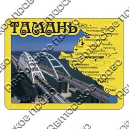 Магнит зеркальный с картинкой Карта с символикой Тамани вид 4
