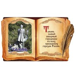 Магнит объемный Книга с символикой Тамани