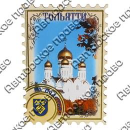 Магнит с тиснением золотой фольгой Марка с символикой Вашего города