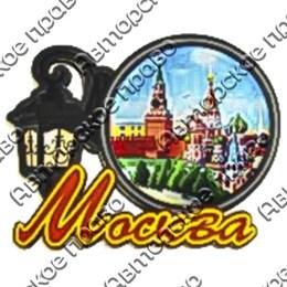 Магнит со смолой Фонарь вид 2 с символикой Вашего города