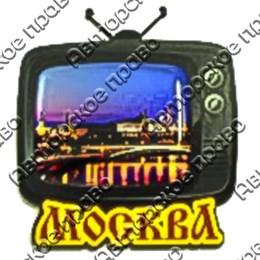 Магнит со смолой Телевизор с символикой Вашего города