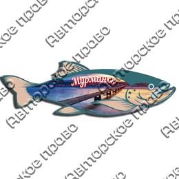 Доска цветная Рыба вид 2 с символикой Вашего города