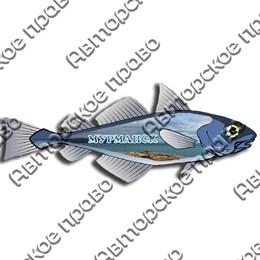 Доска цветная Рыба вид 3 с символикой Вашего города