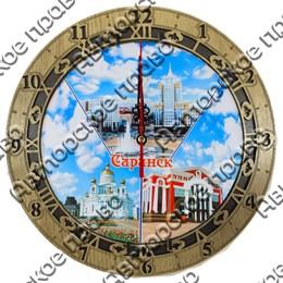 Часы круглые 25 см 2-хслойные вид 3 с видами, достопримечательностями или символикой Вашего города