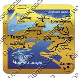Магнит зеркальный с картинкой и символикой Краснодарского края