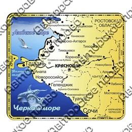 Магнит зеркальный с картинкой с символикой Краснодарского края