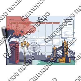 Магнитно - маркерный планер с видами, достопримечательностями или символикой Вашего города вид 2