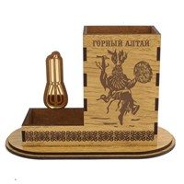 Карандашница малая Шаман с символикой Горного Алтая