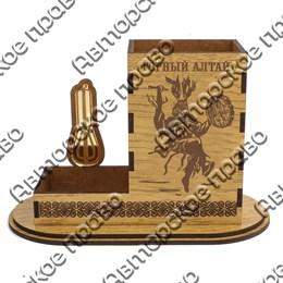 Карандашница большая Шаман с символикой Горного Алтая