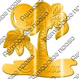 Магнит зеркальный Пальмы с символикой Вашего города
