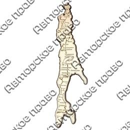 Магнит 2-хслойный карта острова Сахалин